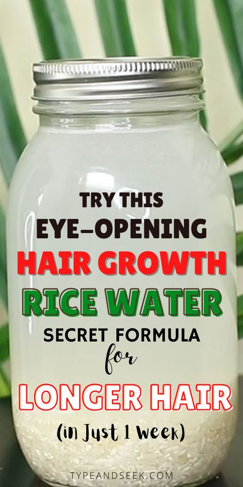 Natural Hair Growth, Hair Growth Oil, Natural Hair Tips, Natural Hair Styles, Hair Growing Tips, Grow Hair, Beauty Tips With Honey, Avocado Hair Mask, Rice Water Recipe