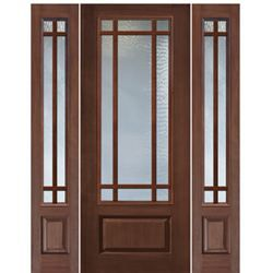 1 Panel 9 Lite Sdl 1 2 In 2020 Wooden Window Design Wood Doors Fiberglass Entry Doors
