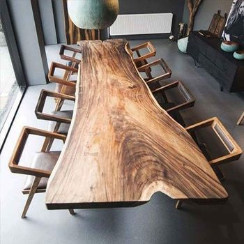 Wood Dining Table Wd8001 Buy Walnut Wood Table Wood Slab Table Top Product On Wuxi Ideal Furniture Co Ltd Wood Slab Wood Dining Table Wood Slab Dining