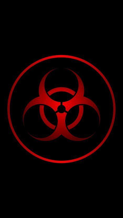 Red Biohazard Iphone Wallpaper Iphone Wallpapers Dark Wallpaper Cool Backgrounds Wallpapers Iphone Wallpaper