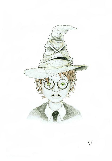 Harry Potter Et Le Choixpeau Magique Harry Potter Dessin
