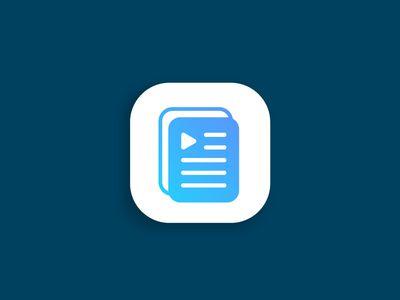 Audiobook Player App Icon Logo App Icon Audio Books App Icon Design