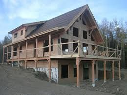Image Result For Timber Frame Homes With Walkout Basement Timber Frame Homes Post And Beam Kits Arched Cabin
