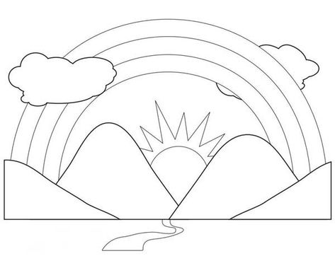Coloring Pages Of Mountains Kids Coloring Pages Coloring Pages