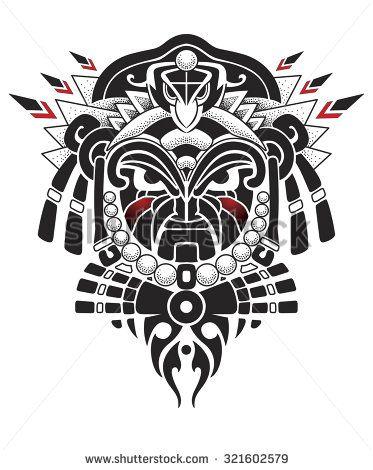 Afrika Masken Stock Vektorgrafiken Clip Art Vektorgrafiken Shutterstock Maori Tatowierungen Polynesische Tatowierungen Und Tattoos Vorlagen