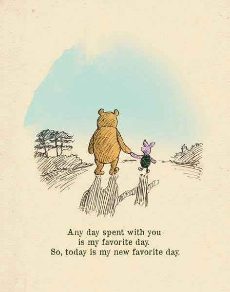 Winnie the Pooh usually hits the nail on the head when it comes to displaying love for your BFF.