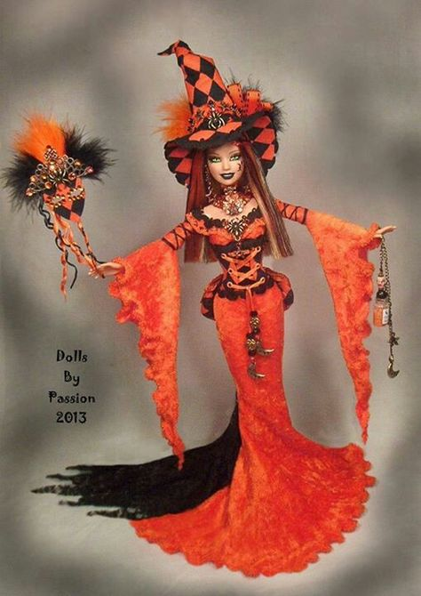 harlequin Barbie witch by Passion love this ♥♥♥