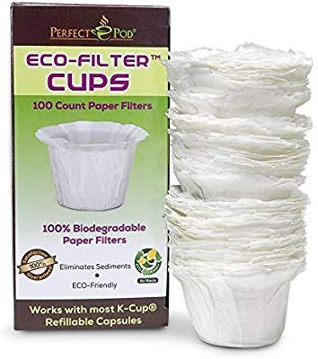 Amazon Com Eco Filter Cups Kitchen Dining Coffee Filters K Cups Coffee Packaging