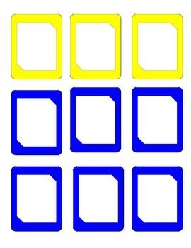 Blank Card Uno Like Template Uno Cards Blank Cards Blank