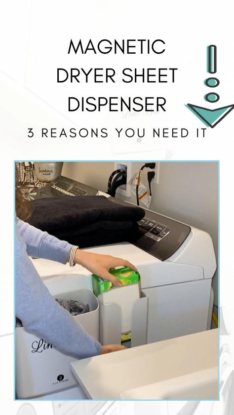 Magnetic dryer sheet dispenser- 3 reasons you need it