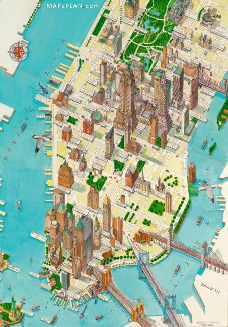 Cartes Et Plans Detailles De New York Carte New York Carte Et Plan Et Cartes Illustrees