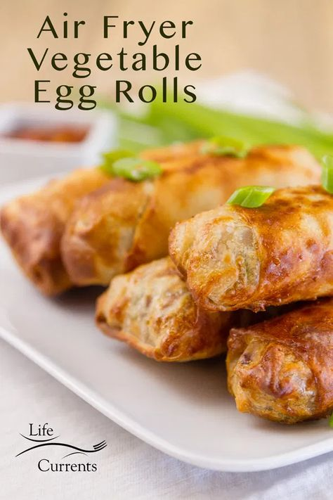 #Air #Appetizer #Currents #Egg #Fryer #Life #Rolls #vegetable Air Fryer Vegetable Egg Rolls - Life Currents appetizer