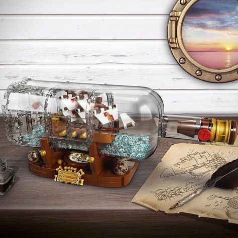 Ship in a Bottle 21313 New Expert Building Set 962 Pieces Gift