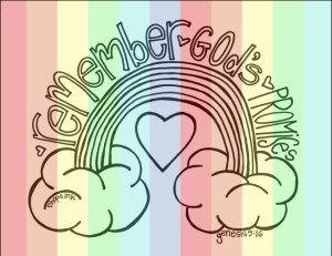 Rainbow Kid S Coloring Sheet God S Promises Scripture Rainbow Bible Rainbow Activities Bible Verse Coloring