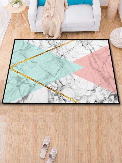 Geometric Marble Pattern Floor Mat Floor Patterns Marble Pattern Floor Mats