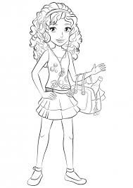 friendship coloring pages fresh extraordinary lego friends ...