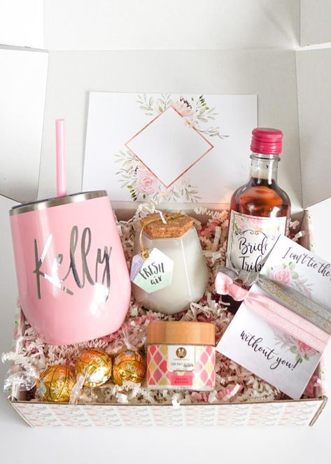 The newest edition of our Bridesmaid Proposal Boxes are here! The spa edition isfor anyone who loves a little bit of pampering. Included in each box is a stainless steel wine tumbler with matching mini straw, a Bride Tribe mini wine label, candy, a set of cute hair ties and your choice of spa goodies. Your bridesmaids will love this gift! #bridesmaidbox #bridesmaidgift #bridesmaidproposal #willyoubemybridesmaid #askingbridesmaids #bemybridesmaid