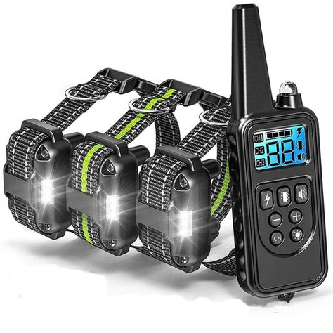 Shock Collar for Dogs with Remote, Range 865 Yards Dog Training Collars for Large Medium Small Dogs Breed 4 Modes Light Beep Vibration Shock, Waterproof and Rechargeable Dog Shock Collar for 3 dogs - Dog Store