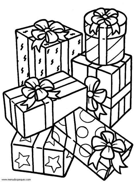 Dibujos De Navidad Regalos.Colorear Navidad 142 Regalos De Navidad Navidad