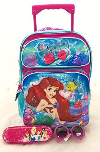 Disney/'s Tinkerbell Fairies Small 12IN Rolling School Bag