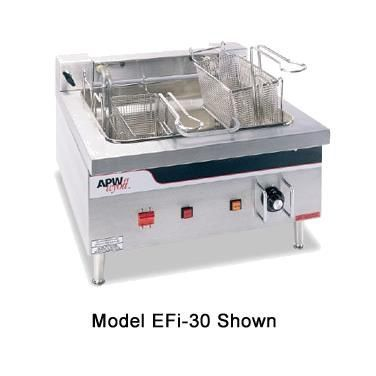 Apw Wyott Ef30int Countertop Electric Fryer 2 15lb Vat 208v3ph