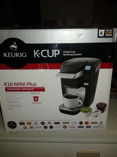 New Keurig K10 Mini Plus K Cup Brewer Coffee Maker Black K10