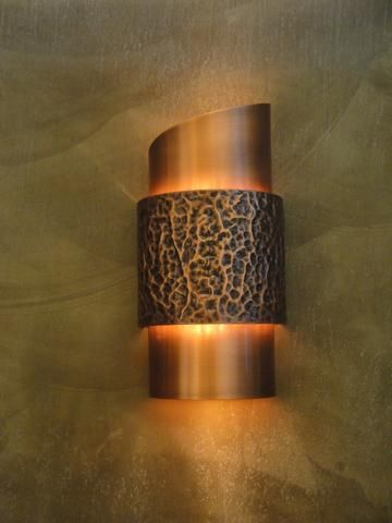 Wall Sconce Wzy C Hammered 1 Light Bronze Copper Wall Sconce Sconces Copper Lighting What is a wall sconce