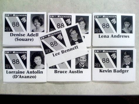 High School Reunion Name Tags with Photos