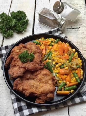 Resep 27 Crispy Chicken Steak Pekaninspirasi Oleh Opibun Resep Masakan Resep Makanan Resep Masakan