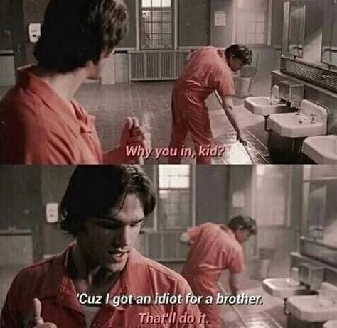 Find images and videos about funny, supernatural and jared padalecki on We Heart It - the app to get lost in what you love. Sam Winchester, Winchester Brothers, Supernatural Fans, Jared Padalecki, Jensen Ackles, Emmanuelle Vaugier, Funny Memes, Hilarious, Bae