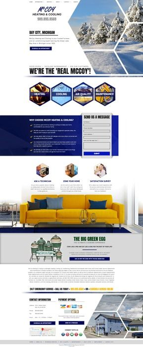Seasonal Heating And Air Conditioning Website Design In 2020