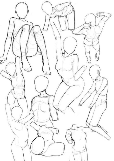 Learn To Draw People - The Female Body - Drawing On Demand Anatomy Sketches, Anatomy Drawing, Anatomy Art, Art Drawings Sketches, Gesture Drawing, Eye Drawings, Art Illustrations, Hand Drawings, Anime Poses Reference