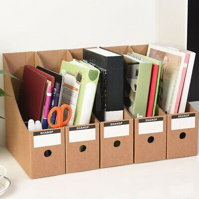Hanging File Boxes Repurposed From Cardboard Crates Diy