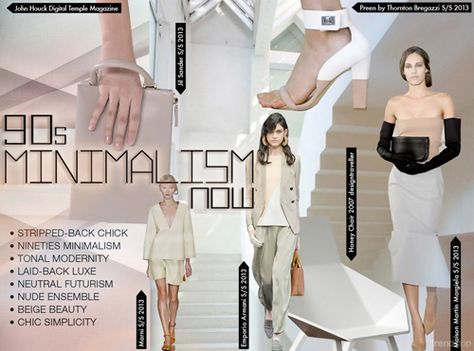 Relaxed, refined and contemporary, the neutralism of the 90s makes a comeback this season, on show in minimal shapes that demonstrate a modern twist. With a pure white colorway prevailing throughout, logoed patterns dominate vests at Alexander Wang, as ASOS pares back a biker and Porsche Design remove the sleeves from a polo shirt. Iceberg add interest to a simple dress with an unusual eyelet fastening.