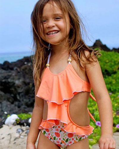 أكثر من ٤٠ صورة لموديلات ملابس أطفال بنات على البحر Fashion Tankini Swimwear