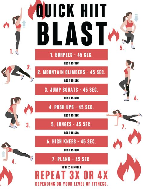 HIIT workouts at home for beginners: Even if you're new to exercise, you've still probably at least heard of HIIT when it comes to working out. High-intensity interval training offers many benefits including improving your cardiovascular health, fitness l Hiit At Home, Hiit Workout At Home, At Home Workouts, Workout Diet, Workout Routines, Best Hiit Workouts Fat Burning, Hiit Training Workouts, Cardio Hiit, Workout Humor
