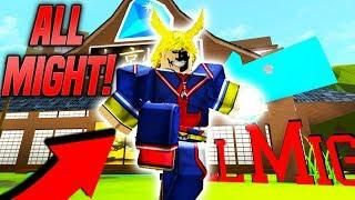 New Becoming All Might In Anime Tycoon Simulator Roblox
