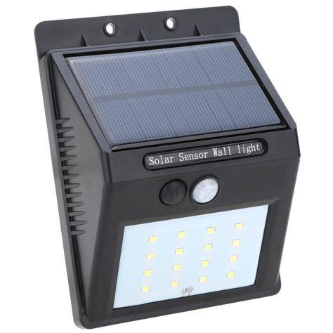 Solar Powered Led Pir Sensor Light Outdoor Wall Lamps Solar