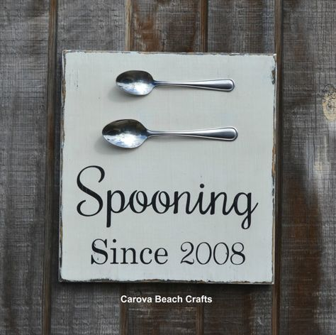 Couples Wedding Sign Couples Gift Personalized Name Sign Wedding Gift Kitchen Dining Room Decor Anniversary Wood Sign Spooning Wedding Date