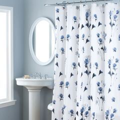Nicole Miller Le Petite Fleur Shower Curtain Floral Shower