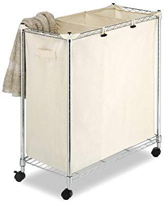 Amazon Com Whitmor 3 Section Rolling Supreme Laundry Sorter With