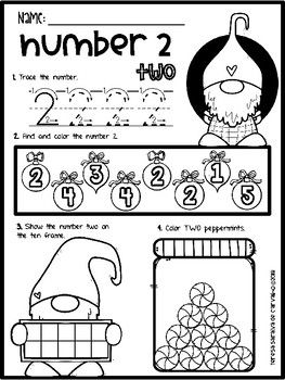 Christmas Oh Oh Oh Numbers 1 10 Letters A Z No Prep Numbers Kindergarten Kindergarten Readiness Abc Activities Christmas worksheets for toddlers age 2