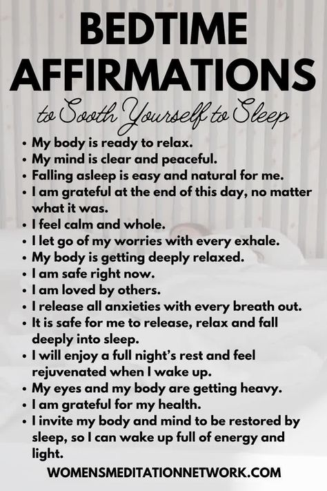 Tonight's sleep meditation is full of soothing affirmations that will help you sleep.