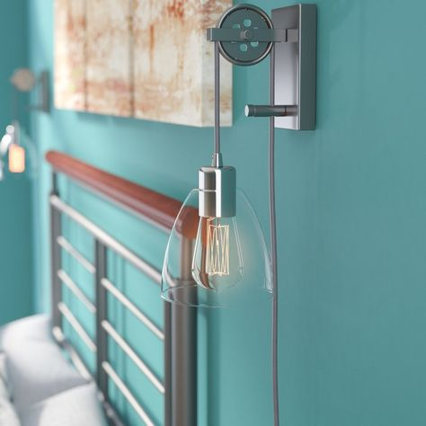 Cyrus 1 Light Plug In Armed Sconce Sconces Plug In Wall Sconce Wall Sconces