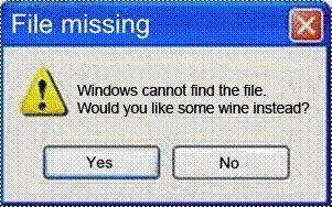 File Missing: Wine Instead?