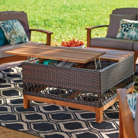 Lift Up Outdoor Coffee Table With Storage Lift Up Coffee Table