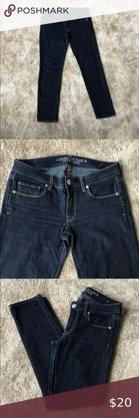 I just added this listing on Poshmark: Skinny Super Stretch Dark Wash Jeans. #shopmycloset #poshmark #fashion #shopping #style #forsale #American Eagle Outfitters #Denim