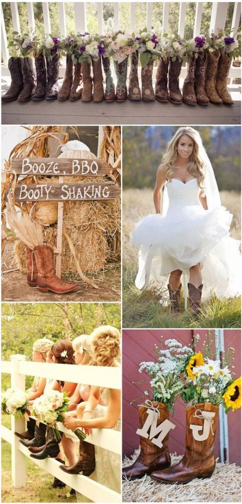 100 Rustic Country Wedding Ideas and Matched Wedding Invitat.- 100 Rustic Country Wedding Ideas and Matched Wedding Invitations Chic Western Cowboy Boot Country Wedding Ideas - Country Wedding Invitations, Country Wedding Dresses, Wedding Country, Western Wedding Ideas, Country Themed Weddings, Country Western Weddings, Country Weeding Ideas, Country Chic Party, Barn Wedding Dress