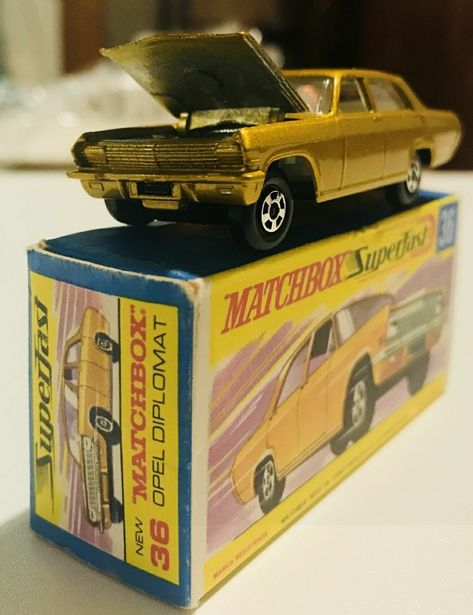 Matchbox Opel Diplomat Metal Toys Matchbox Vintage Toys