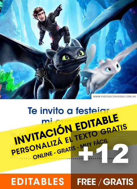 12 How To Train Your Dragon Birthday Invitations Free Online Editable And P How To Train Your Dragon Dragon Birthday Invitations Dragon Party Invitations